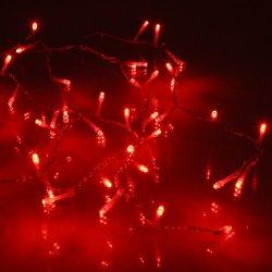 Perdea 100 LED-uri roșii cu jocuri de lumini cablu roșu WELL
