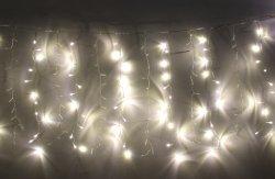 Perdea luminoasă tip turturi 240 LED-uri albe lumină caldă interconectabilă, WELL