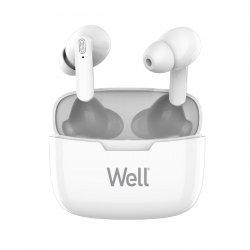 Căști Bluetooth TWS in-ear Well Boost alb image