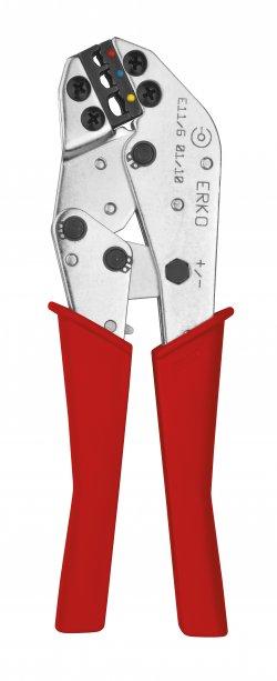 Presă sertizare pini și papuci Erko E 11-16, 0.5 ÷ 6 mm2, lungime 210mm