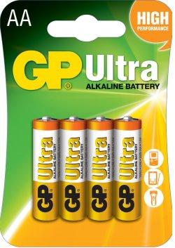 Baterie alcalină Ultra GP R6 (AA) 4 buc/blister