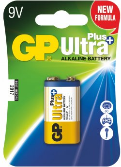 Baterie alcalină UltraPlus GP 9V 1 buc/blister