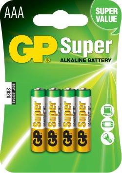 Blister compus din baterie alcalină Super GP R3 (AAA) 4 buc/blister