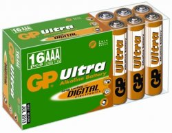 Baterie alcalină Ultra R3 (AAA) 16 buc/cutie GP