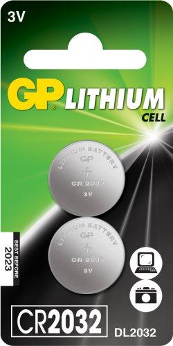 Baterie buton litiu GP 3V 2buc/blister