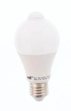 Bec cu LED cu senzor PIR A60 12W lumina rece Well