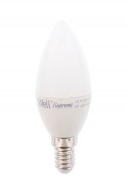 Bec cu led lumanare E14 6W 230V lumina calda Well