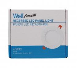 Panou LED Well rotund 6W 126mm 4000K 330lm