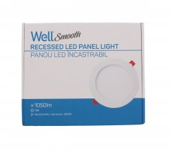 Panou LED Well rotund 15W 191mm 4000K 1050lm