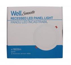 Panou LED Well rotund 24W 302mm 4000K 1800lm