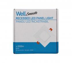Panou LED Well patrat 6W 121x121mm 4000K 330lm
