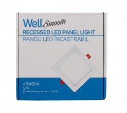 Panou LED Well patrat 9W 146x146mm 4000K 540lm