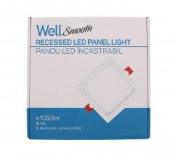 Panou LED Well pătrat 15W 201x201mm 4000K 1050lm