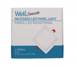 Panou LED Well pătrat 18W 224x224mm 4000K 1260lm