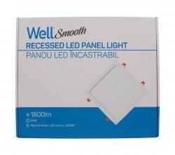 Panou LED Well pătrat 24W 302x302mm 4000K 1800lm