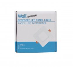 Panou LED Well patrat 3W 86x86mm 4000K 170lm
