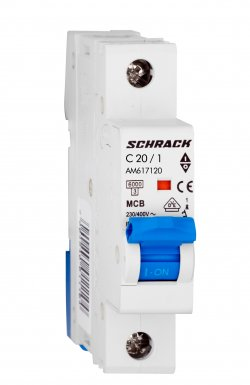 Întrerupător automat Schrack AMPARO AM617120--, 6kA, 20A, 1pol