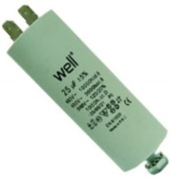Condensator pornire motor 400V 25uF cu pin, Well