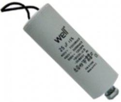 Condensator pornire motor 400V 25uF cu fir, Well