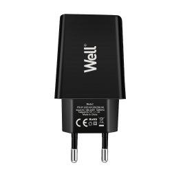 Alimentator USB 230V 1 iesire 2A negru Well
