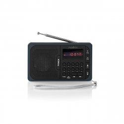 Radio portabil FM port USB si microSD 3.6W negru/gri, Nedis