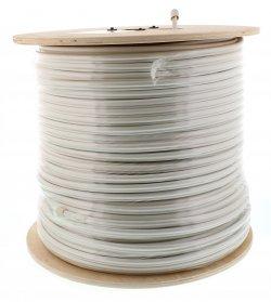 Cablu coaxial RG6 cu sufa 75R cupru ecranat cu folie Al -fire CU 48X0.12, 1ml, Well