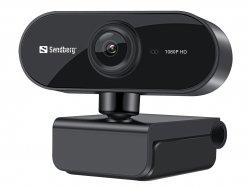 Cameră web Sandberg Flex 1080p, cu microfon