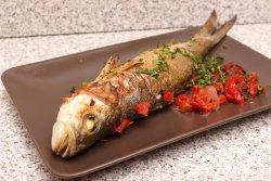 Biban de mare la grătar
