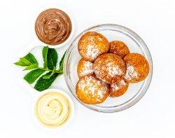Papanași cu Nutella și ciocolată albă