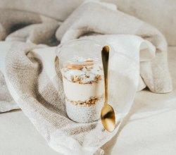 Budincă de chia cu mousse de unt de arahide (produs vegan, de post) image