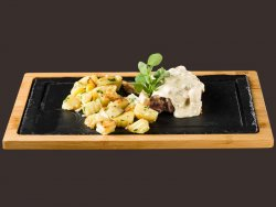 Cotlet de porc cu gorgonzola