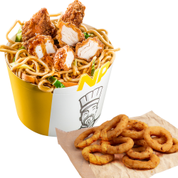 Noodle Pack Shanghai + onion rings image