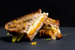 Grilled cheese& apple sandwich