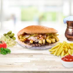 Hamburger de vită meniu image