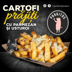 Fries with parmesan and garlic image