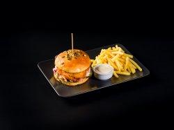 Chicken Burger & Fries image