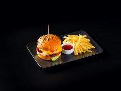 Clasic Burger & Fries image