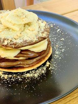 Fluffy Nutella Pancakes