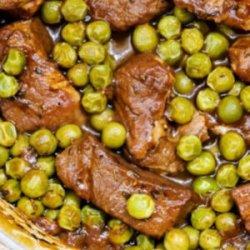 Mâncare de mazăre cu vită image