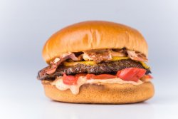 Smoke`n fire burger image