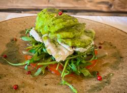 Chicken avocado salad image