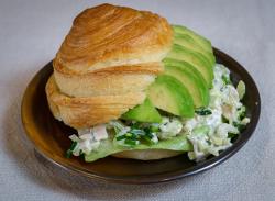 Avocado chicken salad croissant image