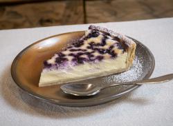 Blueberry tart slice image