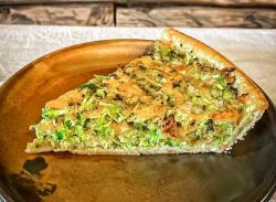 Broccoli & Zucchini tart slice image