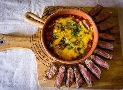 Cajun steak & BBQ beans image