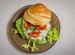 Croissant chicken salad image