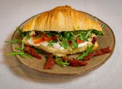 Croissant sandwich caprese image