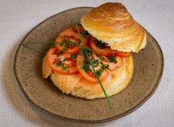 Croissant sandwich salmon image