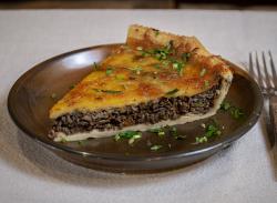Mushroom tart slice image