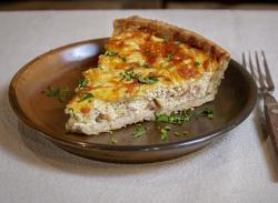 Slice of Quiche Lorraine tart image